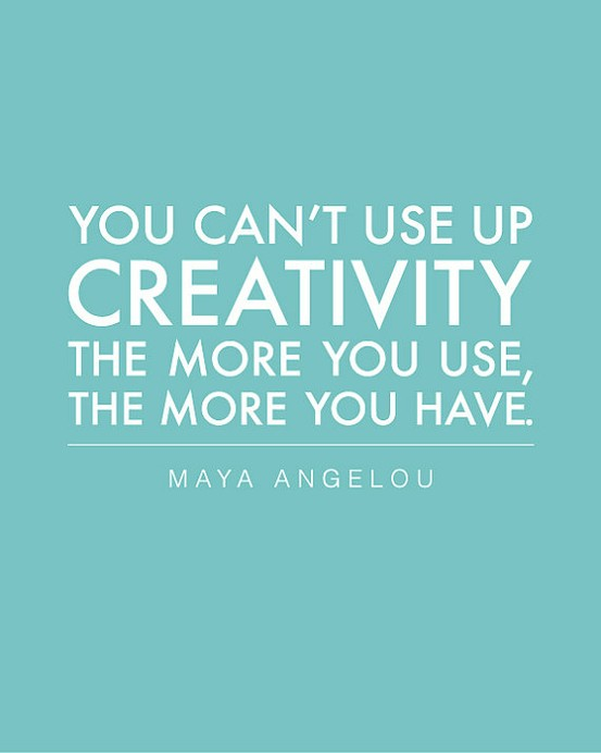 creativity can't be used up