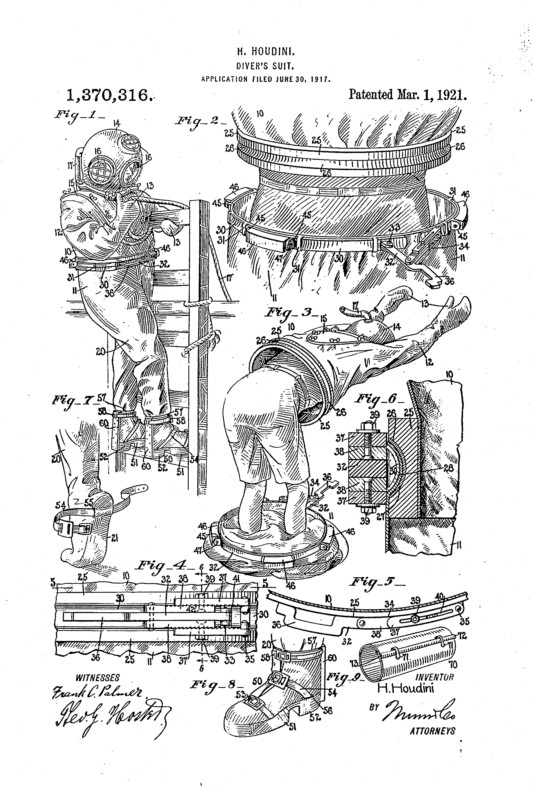 Harry Houdini patent - full