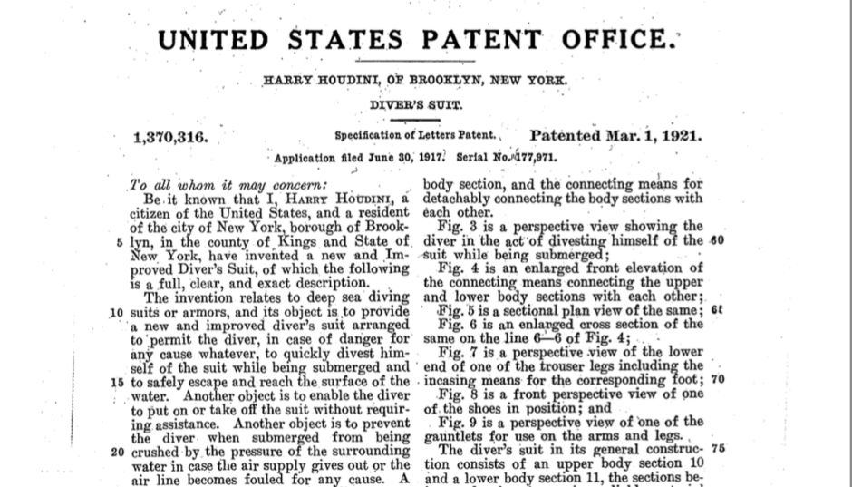 Houdini patent text